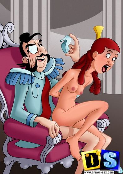 drawnsex Cinderella - Strapon toon sex. Insatiable slut