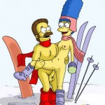 The Simpsons are involved in the sex-mad.  from Simpsons Porn  category