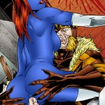 Psyclocke enjoys hardcore mutant sex with Nightcrawler from X-Men Porn  category