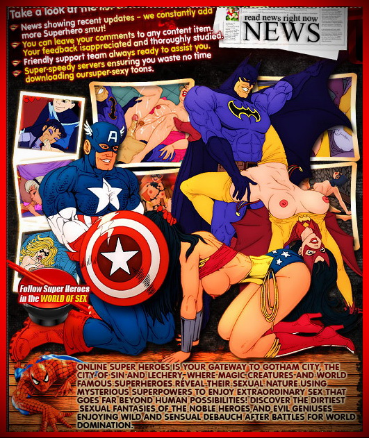 Online Super Heroes Hottest sex cartoon