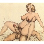 Mature with a curvaceous - vintage porn pics from Vintage Cartoon  category