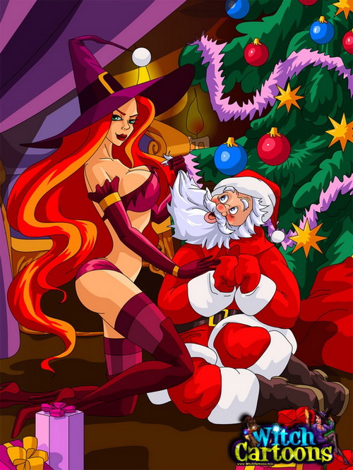 Magic porn in Christmas from Witch Cartoons  category