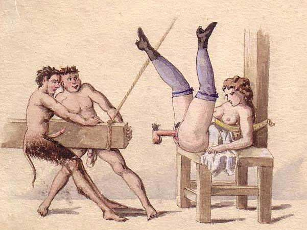 Vintage porn drawings for incredible pleasure