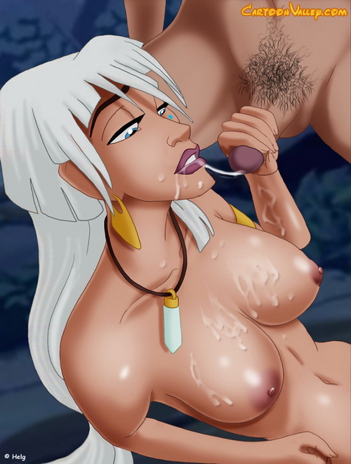 Kida loves sucking a big hard cock from Disney Porn  category