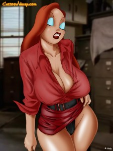 Jessica Rabbit  caresses herself
