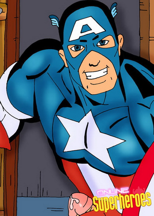 Captain America - super stud from Superheroes porn  category