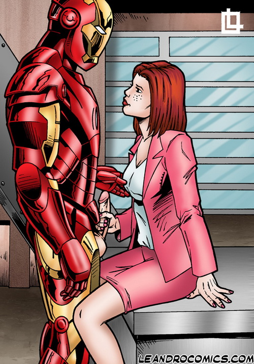 Pepper Potts sucks Iron Man.s little iron man! from Superheroes porn  category