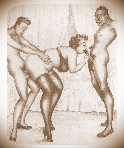 Awesome old fashioned threesome is in vintage sex comics