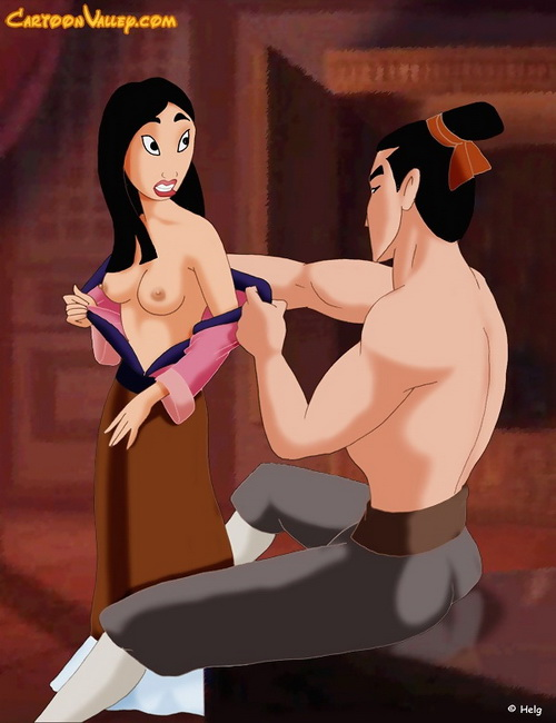 Hardcore action with Mulan and Shang from Mulan porn  category