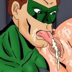 Green Lantern licking catwoman's wet pussy from Superheroes porn  category